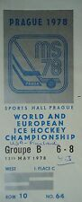 TICKET Eishockey WM 11.5.1978 USA - Finnland in Prag
