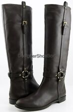 COACH MONDAY Chestnut Leather Designer Comfort Casual Knee High Riding Boots 9.5