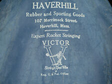 HAVERHILL SPORTING GOODS / VICTOR EXPERT RACQUET STRINGING ADVERTISING