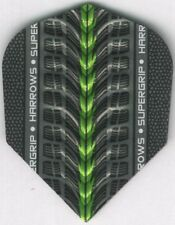 Green HARROWS SUPERGRIP Dimplex Ribs Dart Flights: 3 per set