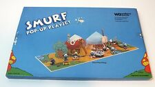 Vintage Smurf Pop-Up Playset 1983 Smurf Play Village Book For Smurfy Characters
