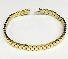 """14kt solid Yellow gold RLX Style Link mens bracelet 7"""" 20 Grams 6 MM"""