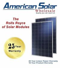 American Solar Wholesale 250W 10 pieces (2500 watts) Poly Solar Panels