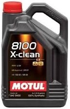 Motul 102020 8100 X-Clean 5W30 100% Synthetic Engine Oil 5 Liter (1.3 gal.)- 1pc
