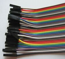 FEMALE TO FEMALE Solderless DuPont Jumper Breadboard Wires 40 Cable For Arduino