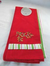 "New For The Home DII Set 2 Kitchen Dish Towels Holiday Red Green 18"" x 28"""