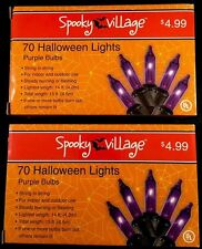 Halloween string lights - indoor/outdoor - purple bulbs - 2 boxes of 70 - NIB