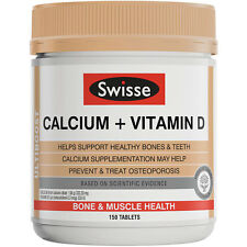 SWISSE ULTIBOOST CALCIUM + VITAMIN D 150 TABLETS BONE & MUSCLE HEALTH SUPPLEMENT