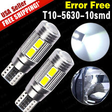 2 X CANBUS ERROR FREE White T10 10SMD 5630 LED Bulbs Projector Len W5W 194 168