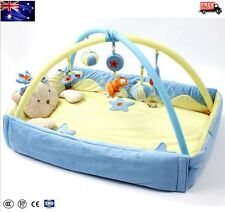 2 IN1 Newborn Baby Play Mat Bed Activity Symphony Motion Gym Flower Musical