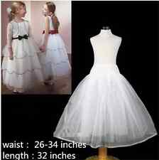 Flower Girl Children Underskirt Kid Wedding Crinoline Petticoat Size Hoopless