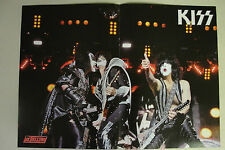 KISS Two Page Magazine POSTER killer live shot GENE SIMMONS paul stanley