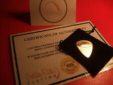 24ct Gold Plated Music Rock Fender Guitar Pick/Plectrum Heavy Gauge + Gift Bag