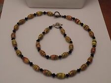 2mdr17 LAMPWORK LATTICINO WRAP BEADS, NECKLACE AND BRACELET