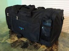 "20"" Sports Carry On Travel Duffle Gym Bag BLACK + Adjustable Strap NEW With Tag"