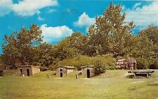 SALEM MASSACHUSETTS PIONEER VILLAGE~THATCHED HUTS ~DUGOUTS POSTCARD 1962 PM