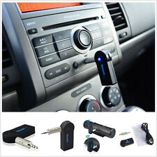 Wireless Bluetooth 3.5mm AUX Audio Stereo Music Home Car Receiver Adapter Mic GE