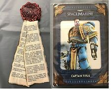 Warhammer 40000 Space Marine Collectors EDT Purity Seal Imán + Info Tarjetas Nuevo