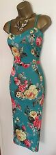 NWT Fitted Floral Bodycon Weddin Party Evenin Day Cocktail Cami Dress UK 10 - 16