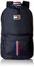 New Sealed Tommy Hilfiger Th Sport Eyelets-Ripstop Nylon Backpack Navy Book Bag