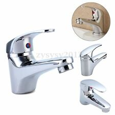 New Chrome Classic Bathroom Single Lever Basin Sink Water Mixer Tap Hot Cold