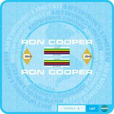 Ron Cooper Bicycle Decals Transfers - Stickers - Set 1