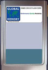 Tarjeta de memoria Flash de 16MB para los conmutadores Cisco 8500 MSR (MEM-ASP-FLC16M)