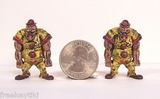"""2 pieces ZOMBIE PLANET Zombie the Circus Clown 1.5"""" Toy Figure Figurine Zombies"""
