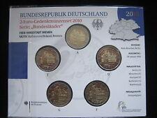 """MDS DEUTSCHLAND 5 x 2 EURO 2010 BU / STGL. """"BREMEN RATHAUS UND ROLAND"""" (BOX A)"""