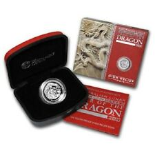 Perth Mint Australia $1 LS2 High Relief Proof Dragon 2012 1 oz .999 Silver Coin