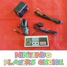 NEW AC Adapter Power Cord + AV Video Cables + Controller for the Nintendo NES