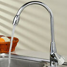 360° Rotating Kitchen Sink Spout Single Handle Faucet Pull Down Spray Tap Steel