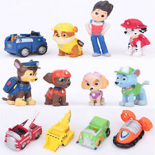 12 pcs PAW PATROL Mini Figures Playset Cake Toppers, Ryder + 6 pups + 5 vehicles