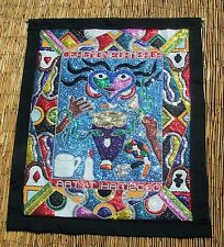 """Haitian Voodoo Vodou Drapo Flag with Beads, & Sequins by Yves Telemak 33""""x40"""""""