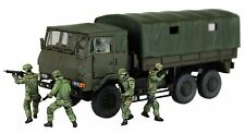 Aoshima 12086 1/72 JGSDF 3 1/2t TRUCK w/ Additional Armor+6 Figures Limited Ver.