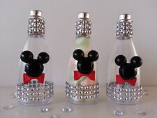 12 Mickey Mouse Fillable Champagne Bottles Baby Shower Favors Prizes Game Decor