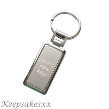 Chunky KEYRING in silver plate with Personalised Engraving - Key Fob - Key Ring