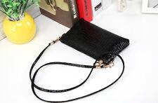 Fashion Women Crocodile Leather Messenger Crossbody Clutch Shoulder Handbag 1