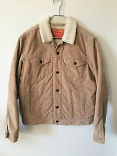 LEVI'S MEN'S CLASSIC CORDUROY SHERPA TRUCKER BUTTON UP JACKET MEDIUM 723360004