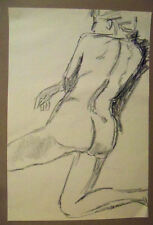 """FEMALE NUDE"" by Ruth Freeman CHARCOAL 15 1/4"" X 22 1/4"""