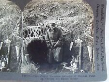 WW1 CAMOUFLAGED TRENCHES IN CHEMIN DES DAMES SECTOR KEYSTONE STEREOVIEW CARD WWI