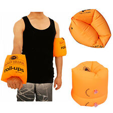 Inflatable Swim Rollup Arm Bands Water Sport Floats Armlets for Kids and Adult