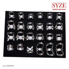 Dental Endodontic 24 Pcs Rubber Dam Clamps Orthodontic Instruments Lab CE SYZE