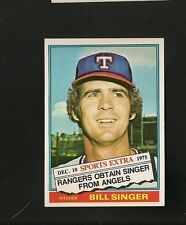 8300* 1976 Topps Traded # 411T Bill Singer NM-MT