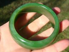 Rare Russian Siberian Top Grade Apple Green Nephrite Jade Bangle Bracelet 56 MM