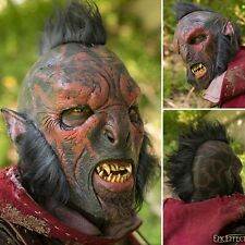 Latex Carnal Orc Mask With Hair - Perfect For LARP Or Costume Use