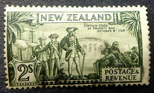 NEW ZEALAND #197 USED 2 SHILLING CAPTAIN COOK  CAT.$45