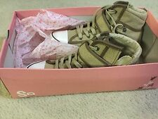 SONOMA GIRLS WOMENS BROWN SNEAKERS SZ 7.5 COOL REG $69.99 NEW IN BOX⛵️ FROM USA