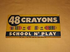 VINTAGE MADE IN USA TOY SCHOLL N' PLAY 48 CRAYONS UNUSED IN BOX