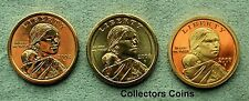 2008 Three Coin Sacagawea Native American PDS Set from Mint Rolls/Proof Sets